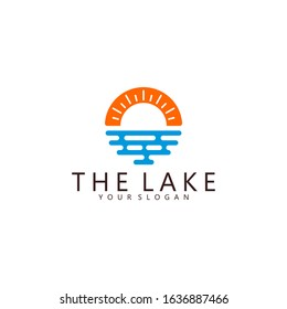 Simple Lake Logo Design Inspiration