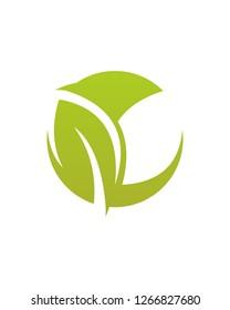 Simple Leaf Logo template