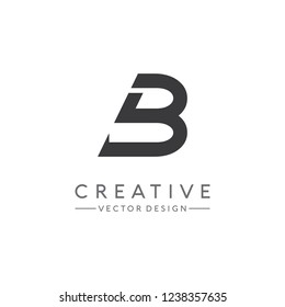 Simple letter B logo design Vector