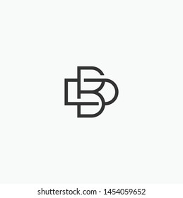 Simple letter DB design logo concept, BD logo design Vector