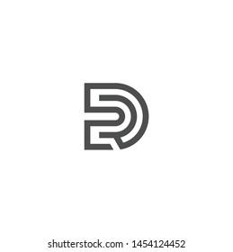 Simple letter DR design logo concept, DR logo design Vector