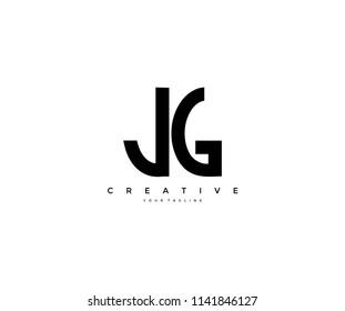 simple letter JG vector design logo