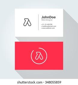 A Simple Letter Minimal alphabet linear logo. Business card template. Vector logo Element