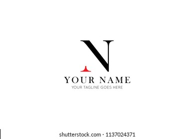simple letter n logo, icon, symbol