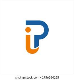 simple letter PI logo design,initial PI vector