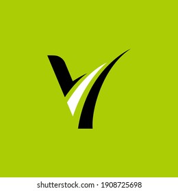 Simple Letter V, Flat Logo Template Ready for Use