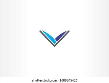 Simple library vector logo symbol