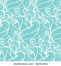 simple light blue waves pattern