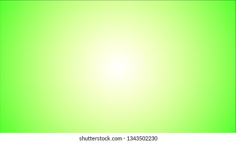 Simple lime green or light green and white radial gradient vector background