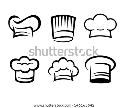 03c356cf Simple Line Art Chef Hat Collection Stock Vector (Royalty Free ...