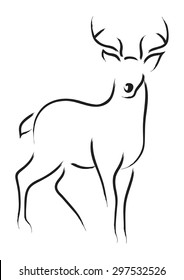Simple line art of a deer