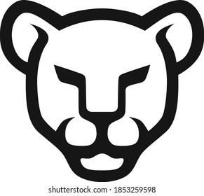 Simple Line Art of Lioness Head