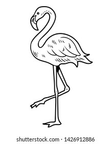 Flamingo One Leg Stock Vectors Images Vector Art