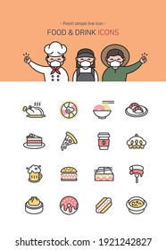 Simple Line Food  Drink Cooking Icons