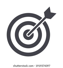 Simple Line Icon goal, target business sign. Vector Illustration