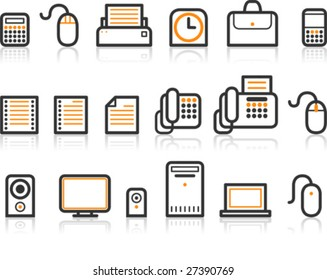 Simple Line Icon Series - Office icon