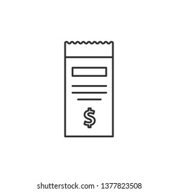 Simple liner Billing - document vector icon