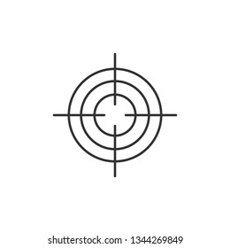 Simple liner Target aim icon, cross aim sign