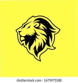 simple lion head logo. can be use as gaming logo