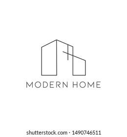 Simple logo architecture with modern home symbol vector illustration minimalist design