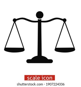 Simple logo black and white scales icon