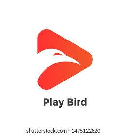 simple logo design. Professional logo design simple bird template. The bird play logo is suitable for airline and airline companies or post offices.
