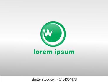simple logo in green and white with lorem ipsum text