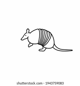 simple logo illustration of Armadillo in outline style