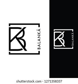 Simple logo initial BK inspiration