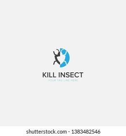 Simple Logo for Insect Killer Modern Logo Design