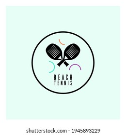 Simple logo template for beach tennis.