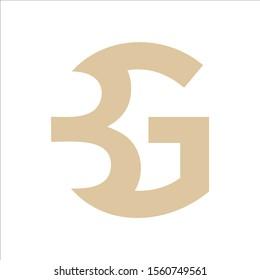 simple logo vector initial BG or GB