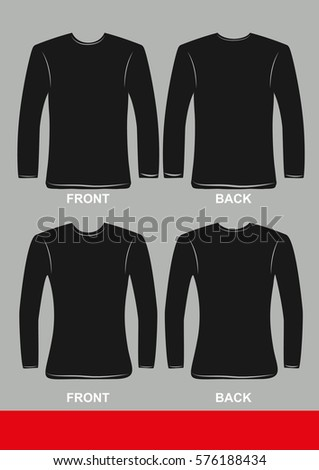 16f6c27a Simple Long Sleeve T Shirts Design Colored Stock Vector (Royalty ...