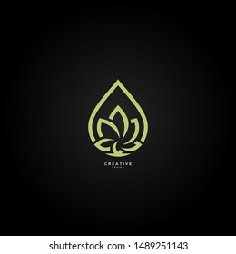 Simple lotus logo with the concept of elegant and modern oil, vectors can be edited according to the needs and desires.