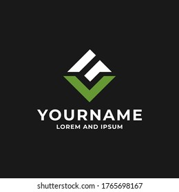 Simple Luxury Letter V and G Initial Logo Design