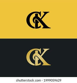 simple and luxury logo from CK  KC