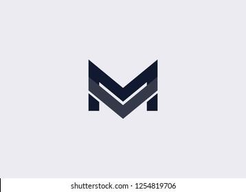 Simple M Logo Design Template