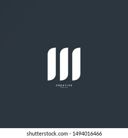 Simple M logo with elegant and sleek design. the design can be edited as needed.