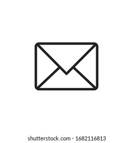 Simple mail line icon. Stroke pictogram. Vector illustration isolated on a white background. Premium quality symbol. Vector sign for mobile app and web sites.