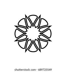 Simple Mandala Logo Design