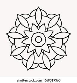 Simple Mandala Images, Stock Photos & Vectors   Shutterstock