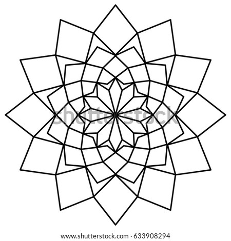 simple mandala template stock vector royalty free 633908294