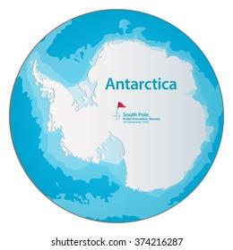Antarctica Map Images, Stock Photos & Vectors   Shutterstock