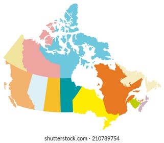 Simple map of Canada