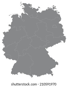 Simple map of Germany