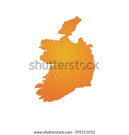 Simple Map Of Ireland.Simple Map Ireland Stock Vector Royalty Free 709211032 Shutterstock