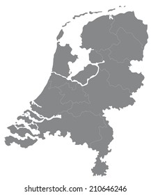 Simple map of the Netherlands