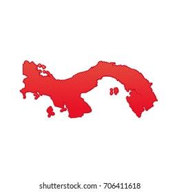 simple map of panama