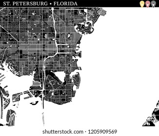 Map St Petersburg Florida.St Petersburg Fl Stock Illustrations Images Vectors Shutterstock