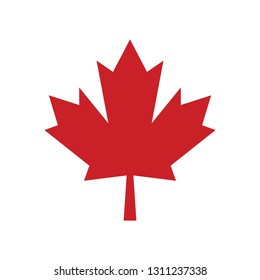 A simple Maple leaf icon in vector format. This sharp Canadian symbol is the classic emblem that represents the country.